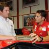 フェラーリで、2009年いっぱいの起用が決定したフィジケラ  (c)Ferrari