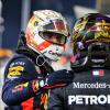 2020年F1第17戦アブダビGP マックス・フェルスタッペン(レッドブル・ホンダ)&ルイス・ハミルトン(メルセデス)  (c)XPB Images
