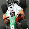 本格的な走行を開始し好調なタイムを記録するスーティル (2009 F1 ヘレステスト)  (c)Force India