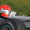 テスト最終日:シューマッハーは午前中は予選シミュレーションとセッティング、午後にはレースシミュレーションの作業にあたった<br />(2010 F1 バルセロナテスト)  (c)MercedesGP